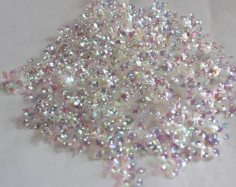 100 White Color/ Flower sequins/Transparent Rainbow Texture/ KBSF607