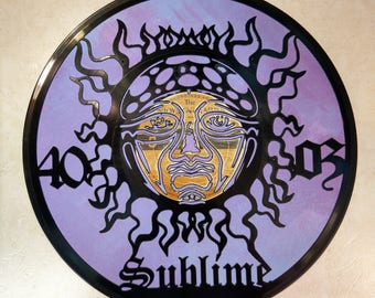 Sublime 40oz Vinyl Record Art