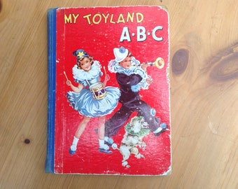 Vintage My Toyland ABC book 1950s