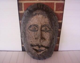 Paper mache mask/African mask/Unfinished mask/ unfinished paper mache/Fall decor/Autume decor/Fall project/Autume project/Craft project