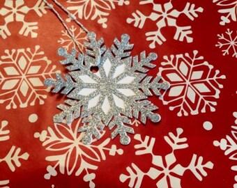 Snowflake Gift Tags, Christmas Gift Tags, Set of 6, Holiday Gift Tags, Christmas Tags, Holiday Tags, Christmas Wrapping, Holiday Gift Wrap