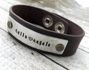 personalized cuff- personalized leather cuff- personalized bracelet-leather cuff-leather bracelet-quote bracelet-mothers cuff bracelet