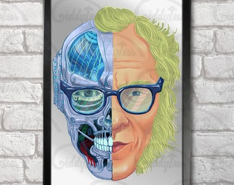 Isaac Asimov print + 3 for 2 offer! size A3+  33 x 48 cm;  13 x 19 in