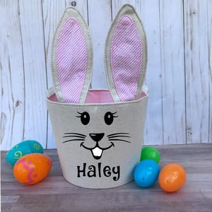 Girl easter gift etsy personalized easter basket easter basket easter basket girl child easter basket girl negle Image collections