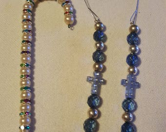 Set of 3 handmade ornaments