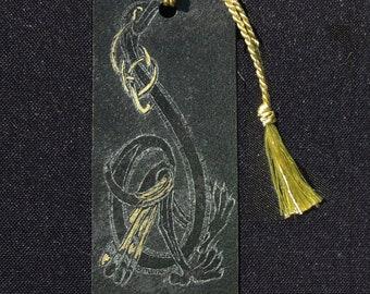 Celtic Zoomorphic Etched Bookmark - D!