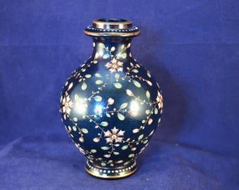 Beautiful BOHEMIAN Enamelled Glass Vase probably Moser - c1890