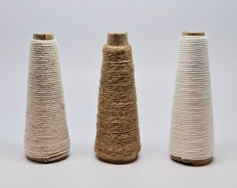 YOU CHOOSE TWINE 8 yards Twine Naturals - Cotton Twine - Favor Packaging - kraft - cream - ivory