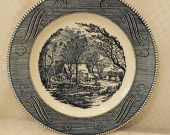 Vintage Currier & Ives The Old Grist Mill Collector Plates