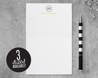 Monogram Notepad, Stationary Notepad, Personalized Note Pad, Monogrammed Note Pad, Custom Notepad, Personalized Gift for Men