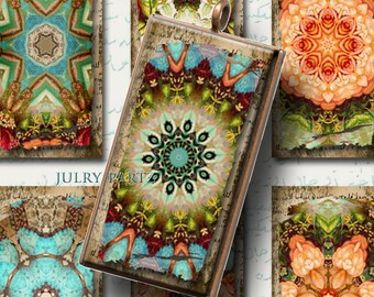 MOROCCAN RELICS 1x2 Tiles, Printable Digital Images, Cards, Gift Tags, Stickers, Scrabble Tiles, Magnets