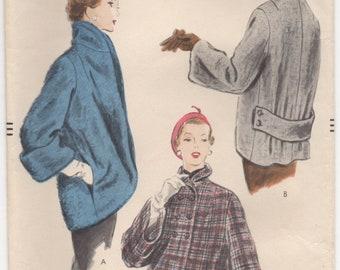 "1950's Vogue High Collar Jacket Pattern - Bust 30"" - No. 7750"