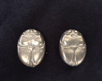 Beetle/Scarab Clip Earrings