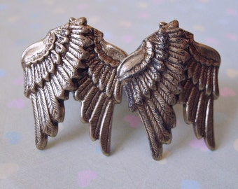 THE ORIGINAL  Steampunk Guardian Angel Brass Wings Cuff Links Exclusive Design by Enchanted Lockets