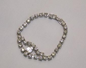 Vintage Rhinestone 6 3/4 inch Bracelet