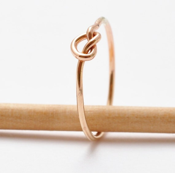 Gold Knot Ring 14K Yellow Gold Filled Christmas Gifts for