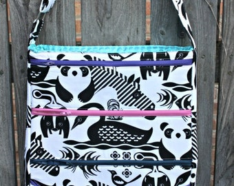 Dot Dot Dash Bag Pattern by Sara Lawson of Sew Sweetness