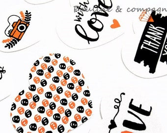 18 stickers stickers fabric heart