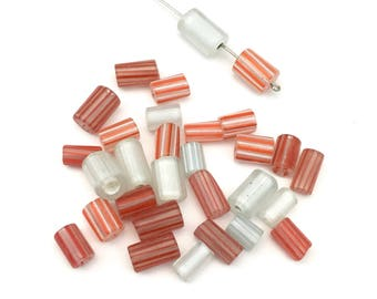 Sale! 30  furnace glass beads, 8mm to 13mm # PV002