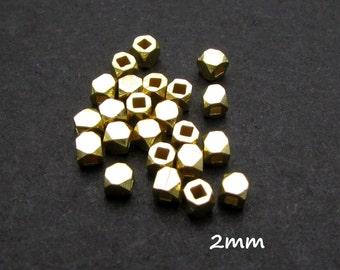 10 Pcs, 2mm, 24k Gold Vermeil Bead
