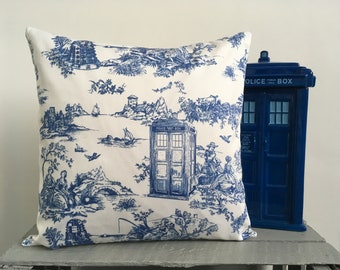 Doctor Who Toile Cushion Cover-Dalek Cushion Cover-Tardis Cushion Cover