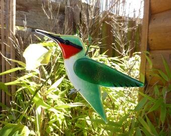 Ruby throated hummingbird, bird lover gift, garden birds, nature lover gift, garden ornament, American wildlife, hummingbird gift