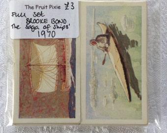 1970 'The Saga of Ships' Brooke Bond Tea Cards, Full Set