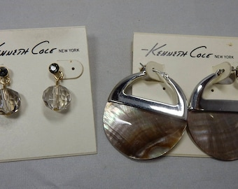 2 pair KENNETH COLE New Old Stock Pierced Earrings