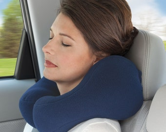 Award-winning Small Blue Travel Neck Pillow With Strong Side Neck Support, Cervical Pillow, Neck Cushion