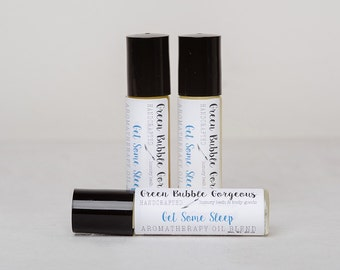 Aromatherapy Get Some Sleep Roll On, made with essential oils, by green bubble gorgeous on etsy