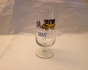 TAXIS-Pils Beer Advertising Glass