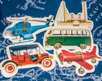 5 gift cards postcards trailer cards / vehicles & aircraft