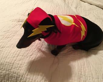 Small Dog / Dachshund The Flash  Superhero Costume