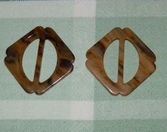 Faux Tortoise Shell Buckle/Slide/holder...Lot of 75
