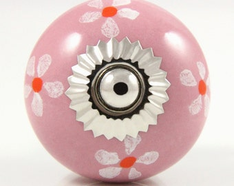 Pink daisy knob 3.9cm PNK012