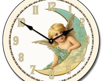 Moon Angel Wall Clock