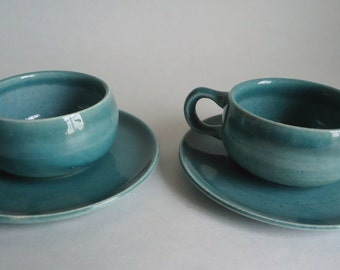 Russel Wright Demitasse Cup & Saucer Seafoam Vintage  Russel Wright American Modern Steubenville  Espresso Coffee Cup