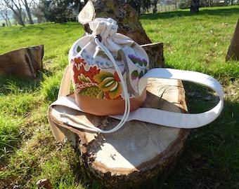 Purse beige and copper tones purse / Handbag