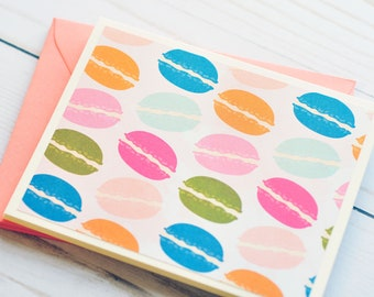 Macaron Note Cards // Set of 6 // Blank Cards // Thinking of You // Thank You Cards // Birthday Card // Just Because