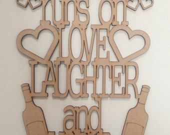 Vodka Mum's house runs on Love Laughter and VODKA