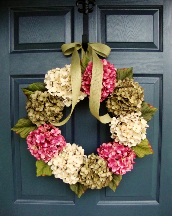 Spring Wreaths Hydrangea Wreath Front Door Wreaths