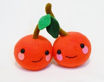 Plush cherry couple pair toy