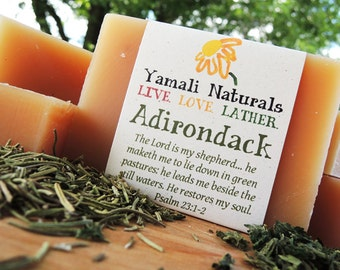 ADIRONDACK - Rosemary Nettle Shampoo Bar - Fresh Woodsy Essential Oil Blend