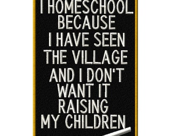 I Homeschool because...written on a chalk board Machine Embroidery Design