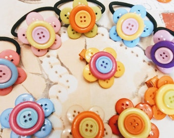 Collection floral buttons