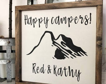 Personalized Happy Campers Sign