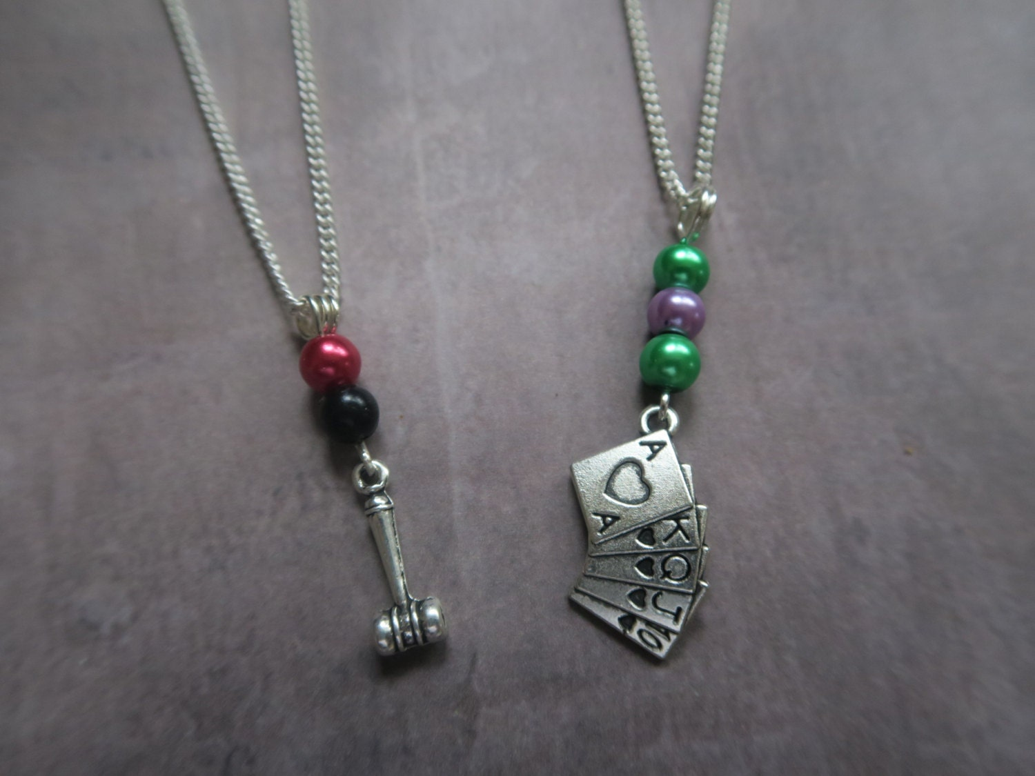 Colourful joker classic harley quinn couple or friendship for Harley quinn and joker jewelry