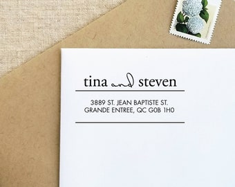 Wedding Gift | Self Inking Stamp | Return Address Stamp |  Personalized Stamp | Custom Stamp |Wedding Stamp