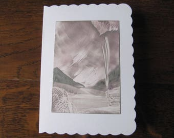 Wonderful Iceland 16 original Encaustic Painting greeting card