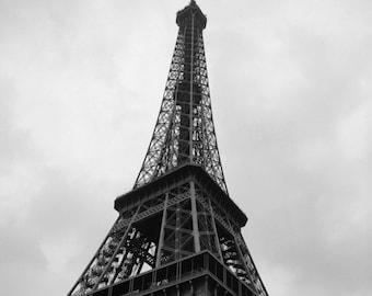 Eiffel Tower, Paris - Black and White Fine Art Photograph - Paris Prominence